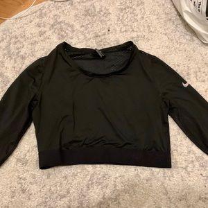 Nike Mesh Long Sleeve Crop Top